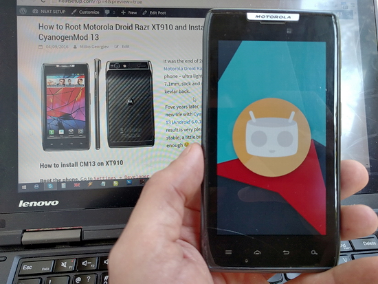 How to Root Motorola Droid Razr XT910 and Install
